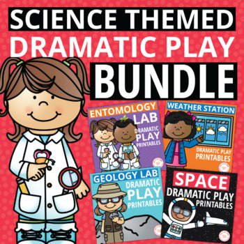 Science Dramatic Play Bundle | Printables for Science Theme Pretend Play