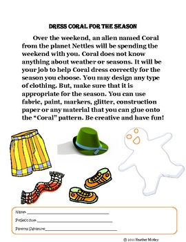 Science: Dress Coral for the Season: People and Seasons Project