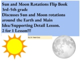 Science/ELA- Sun and Moon Rotation Main Idea/Supporting Details Lesson