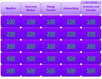 Science EOG Review Jeopardy Bundle
