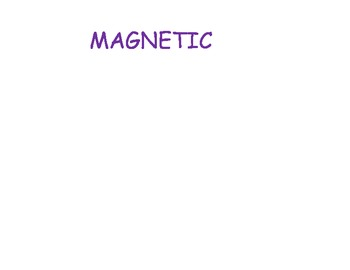 Science ESL magnetic and not magnetic hands on center cut and paste