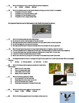 Science Ecosystems quiz