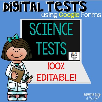 Science Editable Tests Google Forms: Rocks & Minerals, Magnets, Fossils,& Soils!