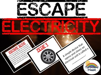 ESCAPE Science Electricity Magnetism Review Task Card Game Activity