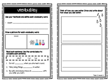 Science Elevate Grade 1 Resource Booklets (Topics 1 - 5)