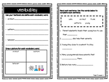 Science Elevate Resource Booklet Grade 1 - Topic 5: Parents and Offspring