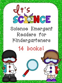Science Emergent Readers Kindergarten- Seasons, Life Cycles, Weather and MORE!