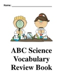 Science End of the Year Vocabulary Book