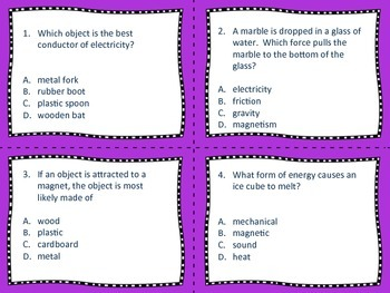 Science Energy and Electricity task cards