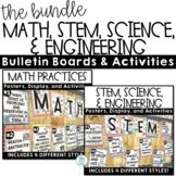 STEM, Science and Engineering, Math Practices Posters Bundle