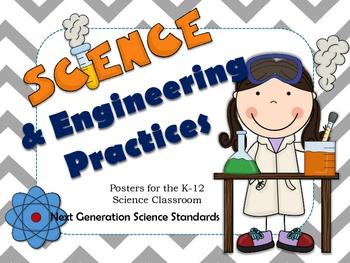 Science & Engineering Practices Posters: Grey Chevron