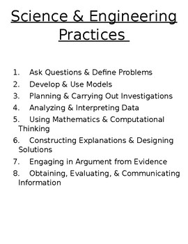 Science & Engineering Practices (SEPs)