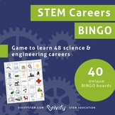 STEM Careers BINGO Game! (Middle & High School) + Distance Learning Version