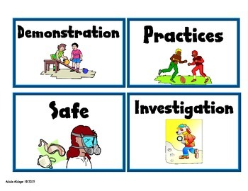 Science English Vocabulary Cards for Pre-K and Kinder