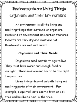 Science: Environment and Living Things: Grades 3 and 4