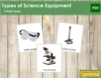 Science Equipment: 3-Part Cards