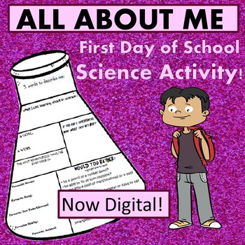 Science Equipment All About Me- First Day of School activity-NOW DIGITAL