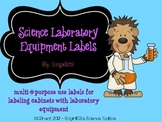 Science Equipment Cabinet Labels