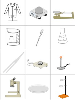 Science Equipment Memory Game / Flashcards