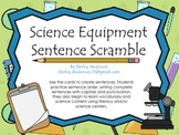 Science Equipment- Sentence Scramble
