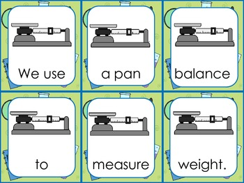 Science Equipment- Sentence Scramble