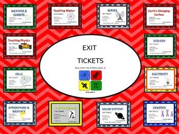 Science Exit Tickets