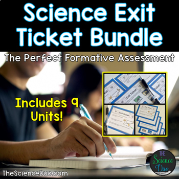 Science Exit Tickets (Exit Slips) Bundle