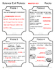 Science Exit Tickets - Rocks