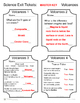 Science Exit Tickets - Volcanoes