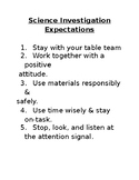 Science Expectations, Roles, & Exit Slip