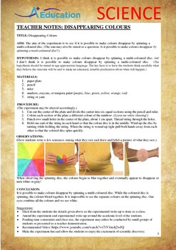 Science Experiment (12 of 50) - Disappearing Colours - Grades 1,2,3