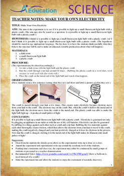 Science Experiment (13 of 50) - Make Your Own Electricity - GRADES 4,5,6