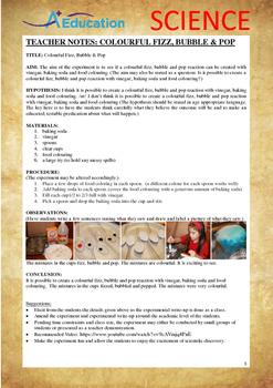 Science Experiment (17 of 50) - Colourful Fizz, Bubble & Pop - Grades 1,2,3