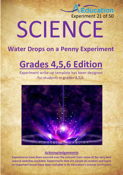 Science Experiment (21 of 50) - Water Drops on a Penny - GRADES 4,5,6