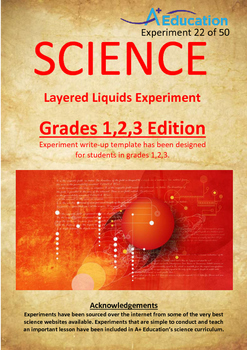 Science Experiment (22 of 50) - Layered Liquids - Grades 1,2,3