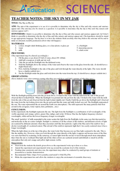 Science Experiment (23 of 50) - The Sky in My Jar - GRADES 4,5,6