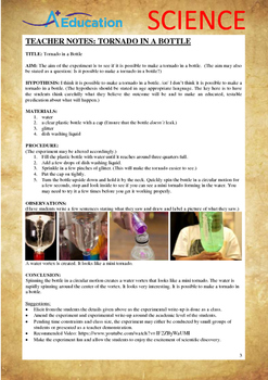 Science Experiment (37 of 50) - Tornado in a Bottle - Grades 1,2,3