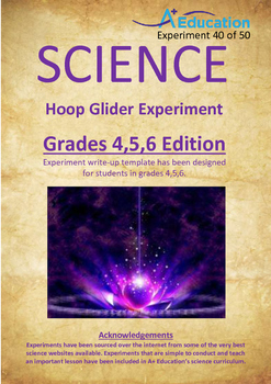 Science Experiment (40 of 50) - Hoop Glider - GRADES 4,5,6