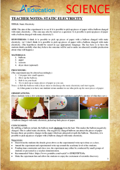 Science Experiment (42 of 50) - Static Electricity - Grades 1,2,3