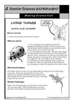 Science Experiment Bundle - Living and Non-Living Things
