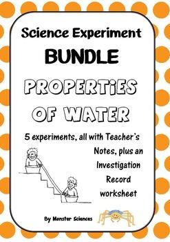 Science Experiment Bundle - Properties of Water