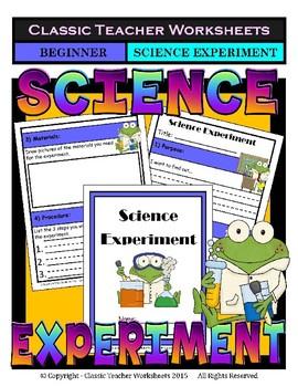 Science Experiment Bundle - Set 1 - Generic Science Experiment Templates