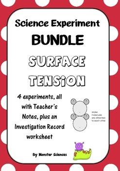 Science Experiment Bundle about Surface Tension