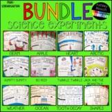 Science Experiment Bundle for Preschool-Kindergarten, and Homeschool