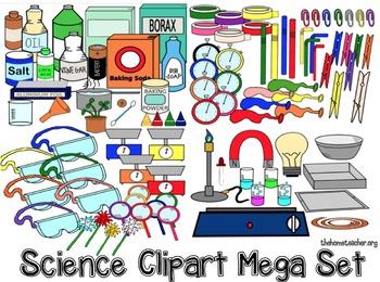 Science Experiment Clipart Set