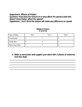 Science Experiment Conclusion Cards
