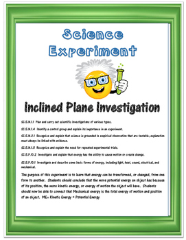 Science Experiment- Inclined Planes and the Scientific Method