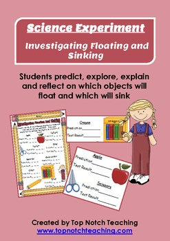 Science Experiment - Investigating Floating and Sinking