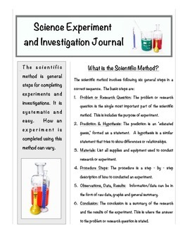 Science Report Using Scientific Method - Any Experiment or Investigation