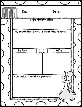 Science Experiment Journal